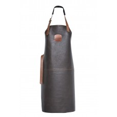 Genuine Orange Classic Leather Apron 82 cm - Brown - Hand Made