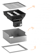 One-Q Flame BBQ Built-In Set