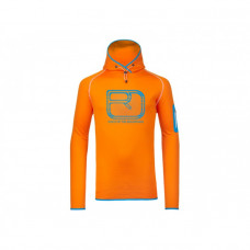 Ortovox Merino Fleece Logo Hoody / Orange Melon XL